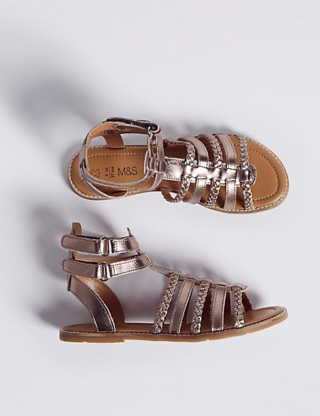 Kids' Leather Gladiator Sandals (13 Small - 6 Large)