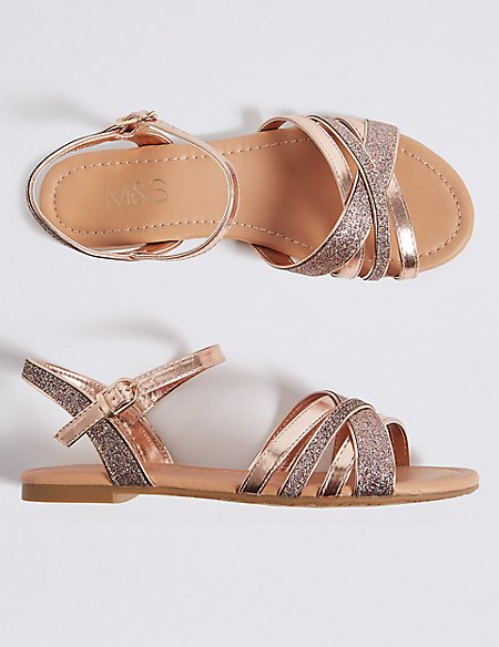 Kids' Sparkle Sandals (13 Small - 6 Large)