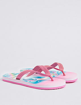 Kids' Printed Flip-flops (13 Small - 6 Large)
