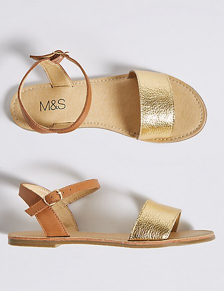 Kids' Leather Sandals (13 Small - 6 Large)