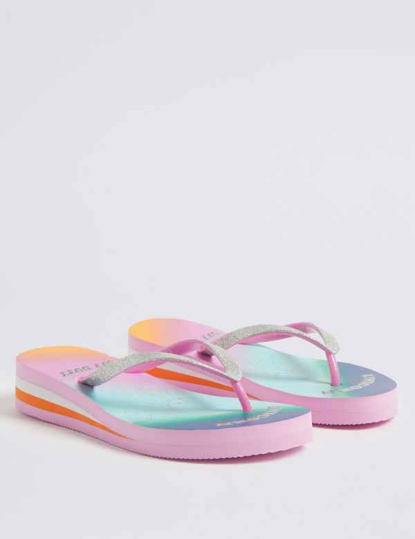 b33ae03e32d10 Kids  Unicorn Wedge Flip-flops (13 Small - 6 Large)