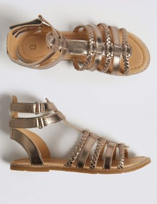 f606b9dc1f43 Kids  Leather Gladiator Sandals (13 Small - 6 Large) £24.00 - £26.00
