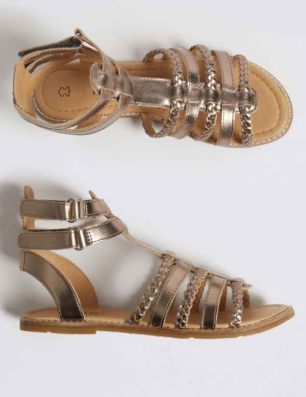 a4b47f1bff30 Kids  Leather Gladiator Sandals (13 Small - 6 Large)