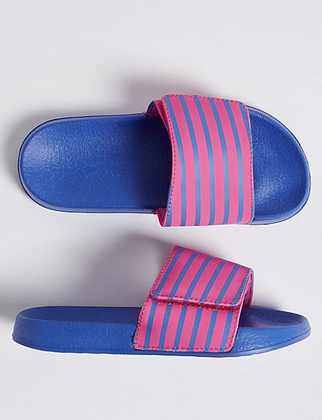 Kids' Striped Sliders (13 Small - 6 Large)