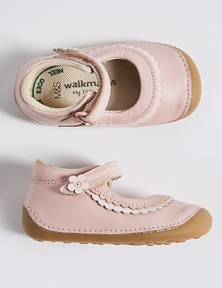Kids' Leather Pre Walker Cross Bar Shoes (2 Small - 5 Small)