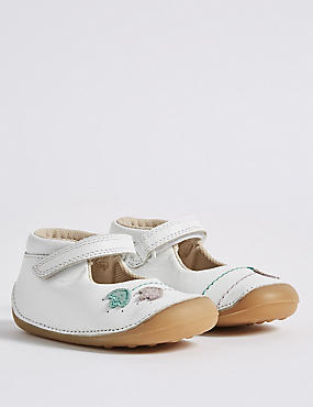 Kids' Leather Riptape Tulip Cross Bar Shoes