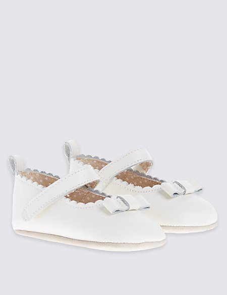 Baby Leather Riptape Cross Bar Shoes