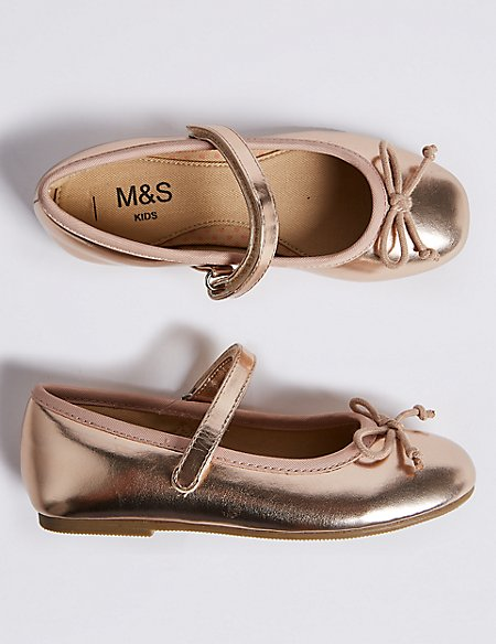 Kids' Metallic Ballet Shoes (5 Small - 12 Small)
