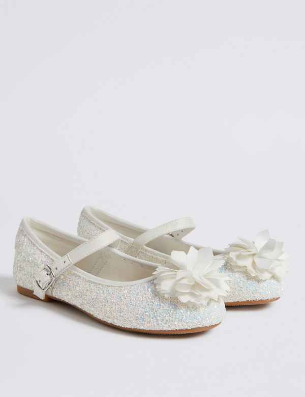 0c32f3a69989 Kids  Glitter Bridesmaid Shoes (5 Small - 6 Large)