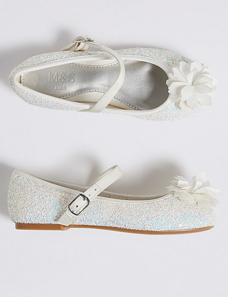 Kids' Glitter Bridesmaid Shoes (5 Small - 6 Large)