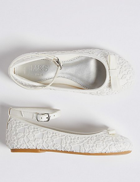Kids' Lace Bridesmaid Shoes (5 Small - 6 Large)