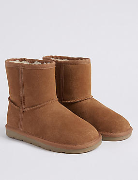 Kids' Suede Ankle Boots (5 Small - 12 Small)
