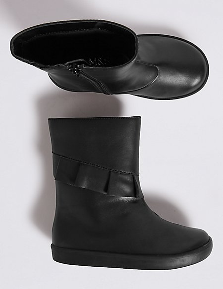 Kids' Leather Ankle Boots (5 Small - 12 Small)