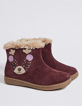 Kids' Leather Novelty Ankle Boots