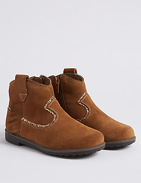 Kids' Leather Western Boots (5 Small - 12 Small)
