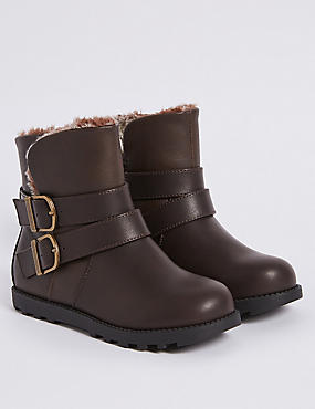 Kids' Buckle Ankle Boots (5 Small - 12 Small)