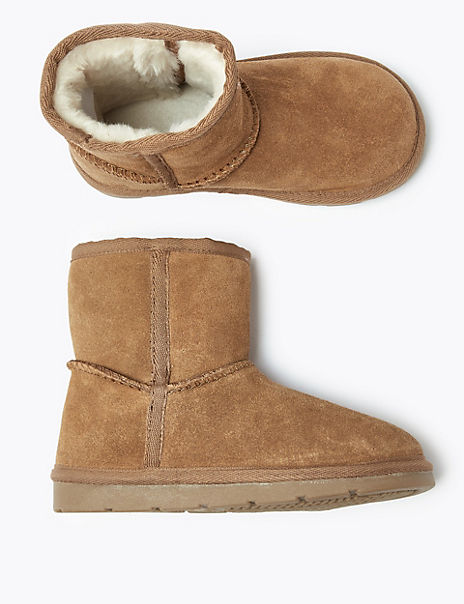 Kids' Lined Suede Pull On Boots (5 Small - 12 Small)