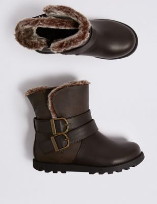 Kids' Buckle Ankle Boots (5 Small   12 Small) by Marks & Spencer