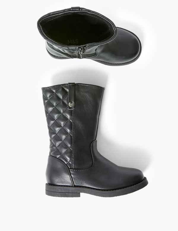 best sale factory outlet best deals on Kids' Freshfeet™ Quilted Boots (5 Small - 12 Small) | M&S