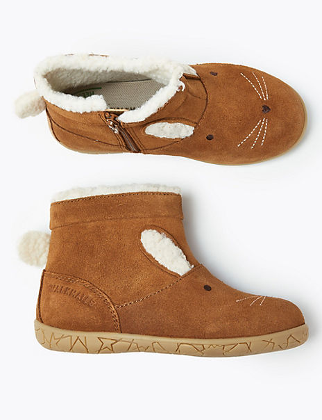 Kids Walkmates™ Suede Rabbit Boots (4 Small -12 Small)