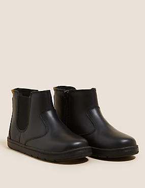 Kids' Leather Freshfeet™ Chelsea Boots (4 Small - 12½ Small)