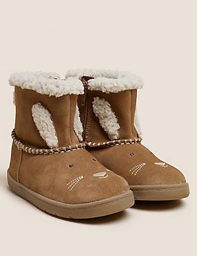 Kids' Suede Freshfeet™ Bunny Chelsea Boots