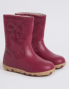 Kids' Suede Berry Boots (4 Small - 11 Small)