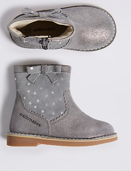 Kids' Walkmates™ Leather Ankle Boots (4 Small - 11 Small)
