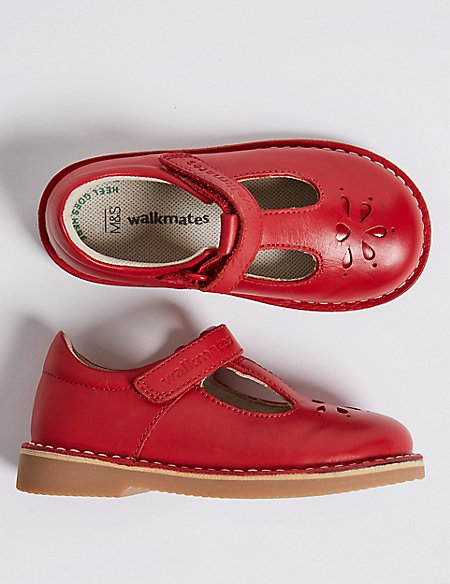 Kids' Walkmates™ Leather Cross Bar Shoes (4 Small - 11 Small)