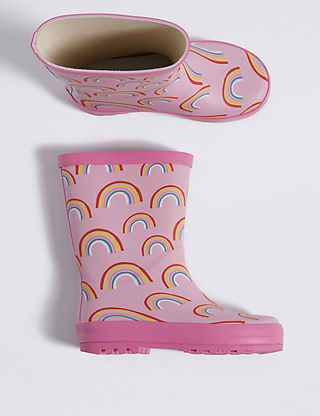 Kids' Rainbow Printed Wellies (5 Small - 12 Small)