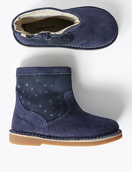 Kids' Walkmates™ Suede Chelsea Boots (4 Small - 11 Small)