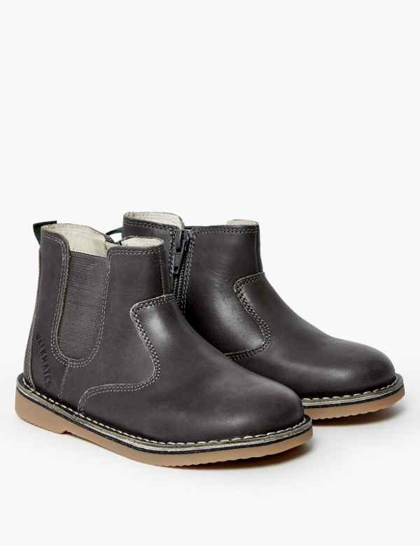 clp60278595: Kids' Walkmates™ Leather Zip Chelsea Boots (4 Small - 11 Small)