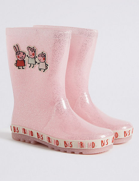 Kids Peppa Pig™ Glitter Wellies (5 Small - 12 Small)