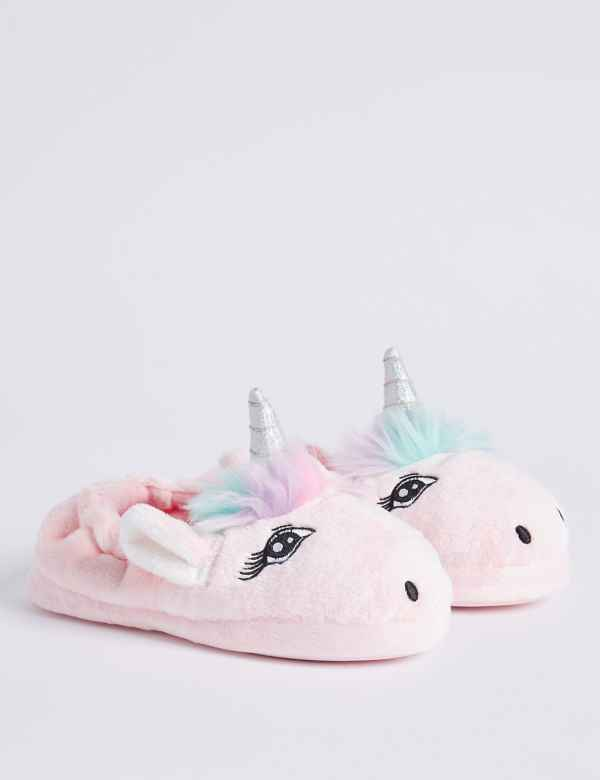 3fbe1fae65a Kids  Slip-on Unicorn Slippers (5 Small - 6 Large)
