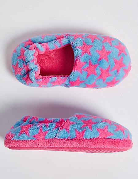 Kids' Star Print Slippers (5 Small - 12 Small)