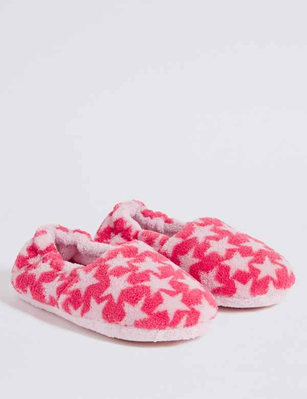 b703834794739 Kids  Star Print Slippers (5 Small - 12 Small)