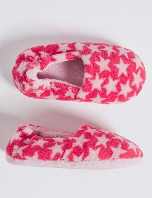 Kids' Star Print Slippers (5 Small - 12 Small) £5.00 - £6.00