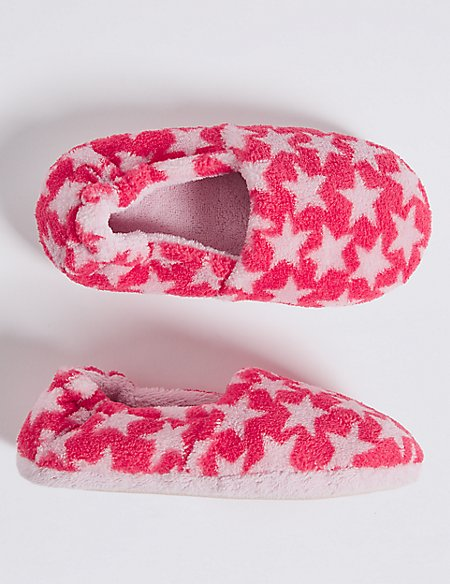 Kids' Star Print Slippers (5 Small - 12 Small)