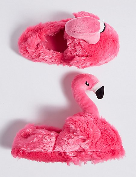 Kids' Flamingo Slippers (13 Small - 6 Large)