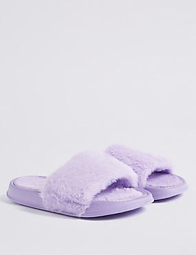 Kids' Faux Fur Freshfeet™ Slide Slipper (13 Small - 6 Large)
