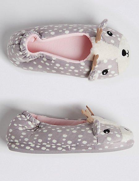 Kids' Deer Ballet Slippers (13 Small - 6 Large)