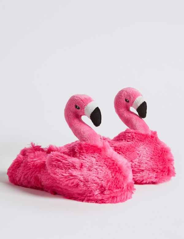 8e45f786b13 Kids  Flamingo Slippers (13 Small - 6 Large)