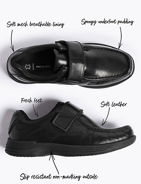 Kids' Leather School Shoes (13 Small - 9 Large)