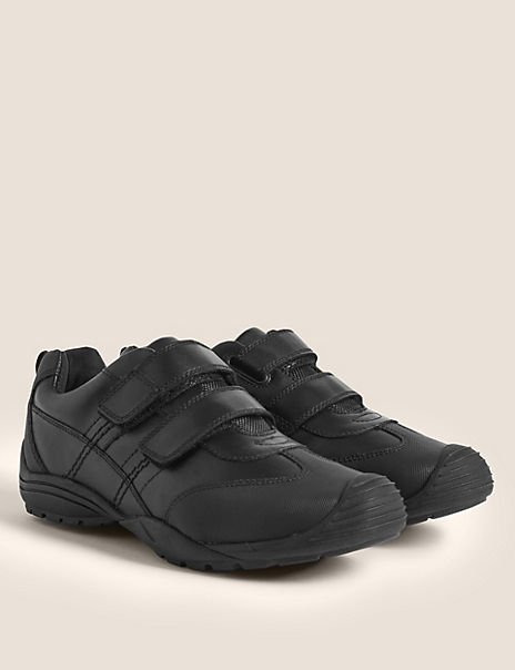Kids' Leather Toe Bumper School Shoes (13 Small - 10 Large)