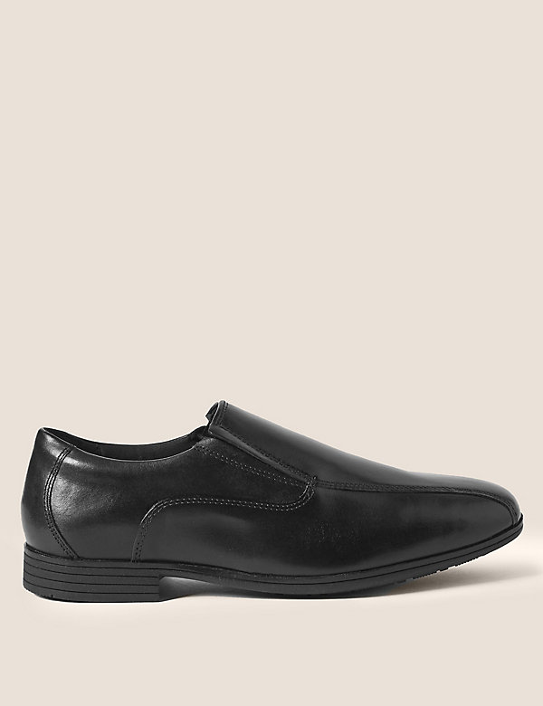 Kids' Leather Slip-on School Shoes (13 Small - 9 Large)