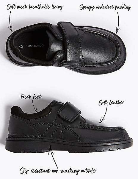 Kids' Leather School Shoes (8 Small - 1 Large)