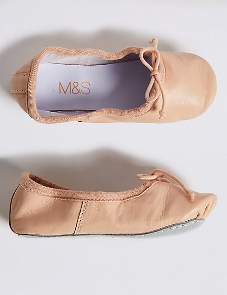 Kids' Leather Dance Ballet Shoes (5 Small - 4 Large)