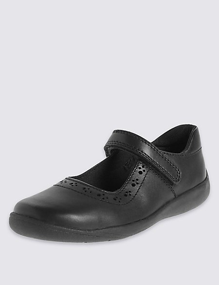 Kids' Leather Freshfeet™ School Shoes