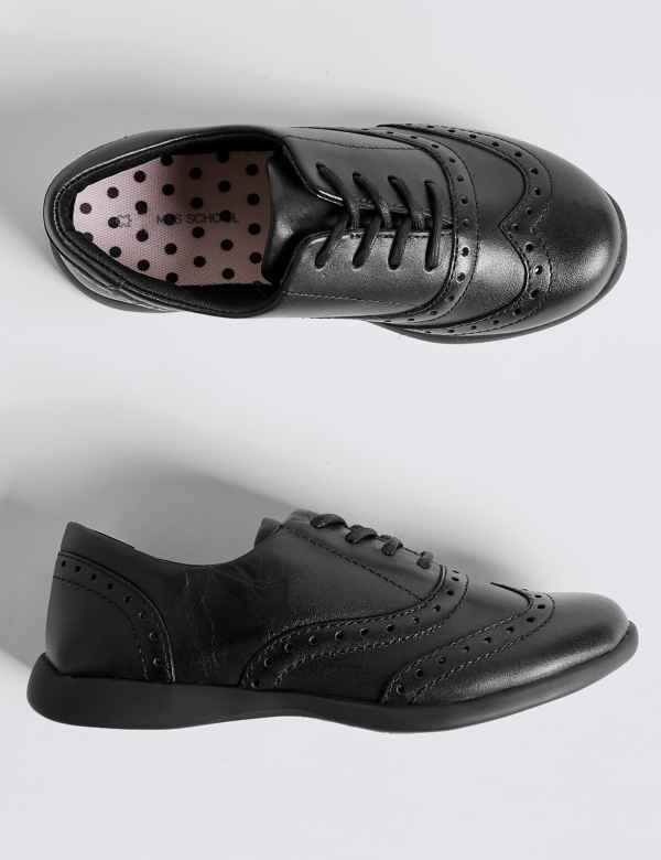 416befe77 Kids  Leather Brogue School Shoes (8 Small - 1 Large)