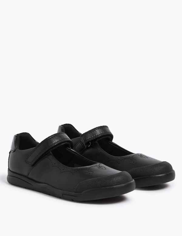 65b5eb79f236 Kids  Leather School Shoes with Freshfeet™ (8 Small - 1 Large)